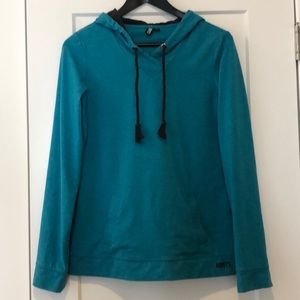 Roots active teal pullover hoodie